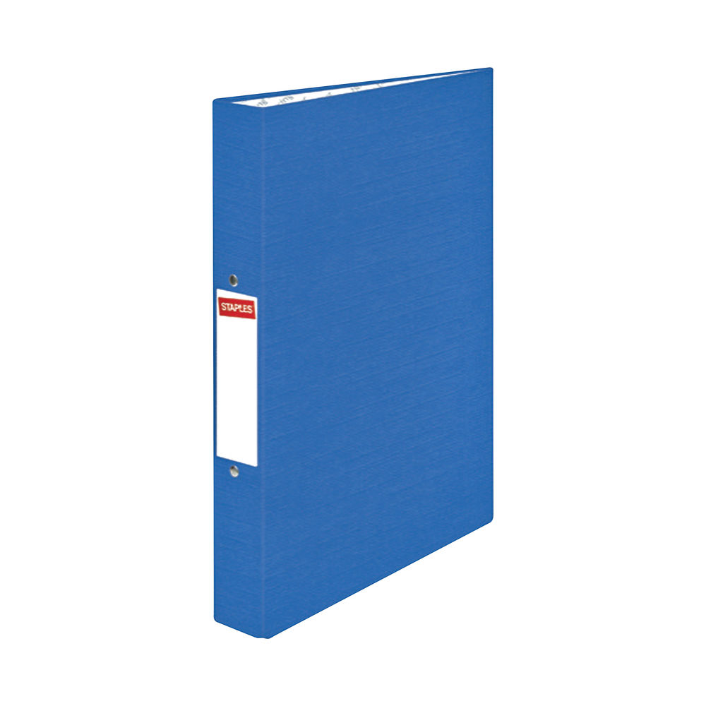 Staples 2 Ring Binder Recycled A4 275 Sheets Blue 53443STAP