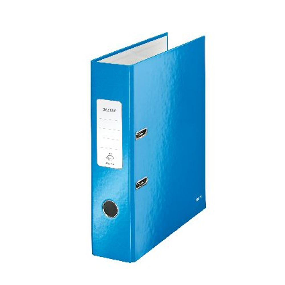 Leitz WOW Metallic Blue A4 Lever Arch Files 80mm - Pack of 10 - 10050036