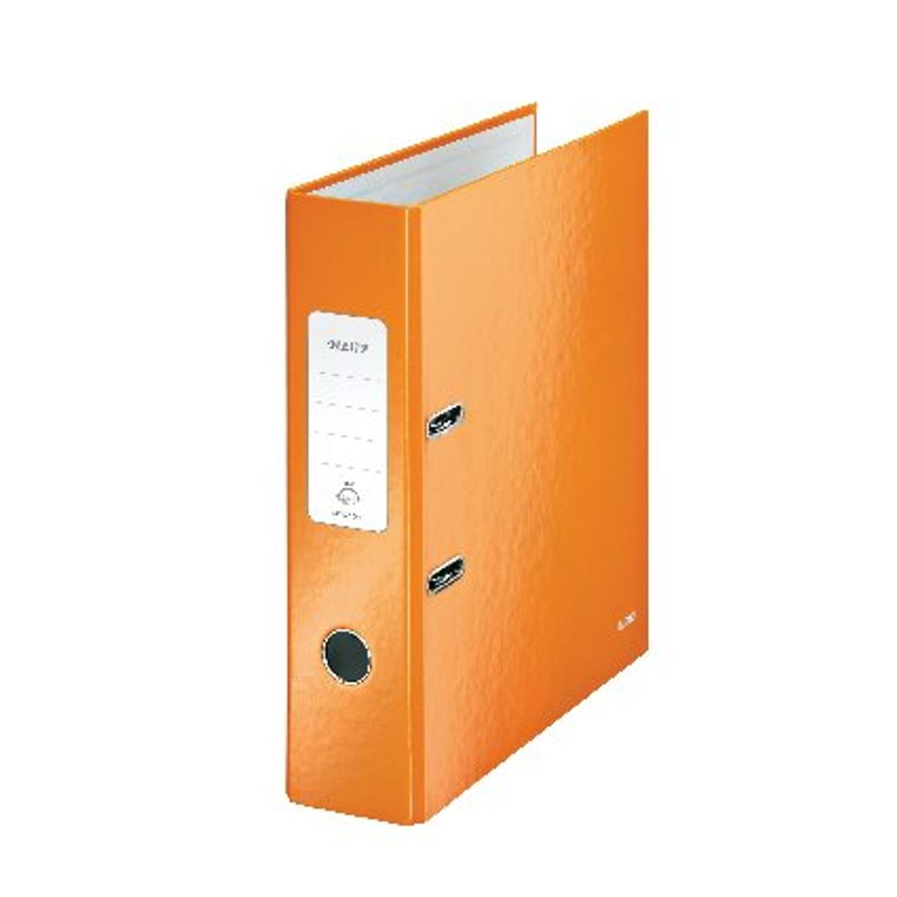 Leitz WOW Metallic Orange A4 Lever Arch Files 80mm - Pack of 10 - 10050044