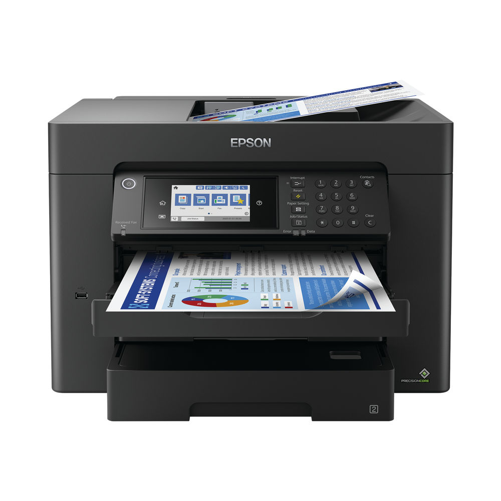 Epson Workforce WF-7840DTWF Inkjet Printer C11CH67401
