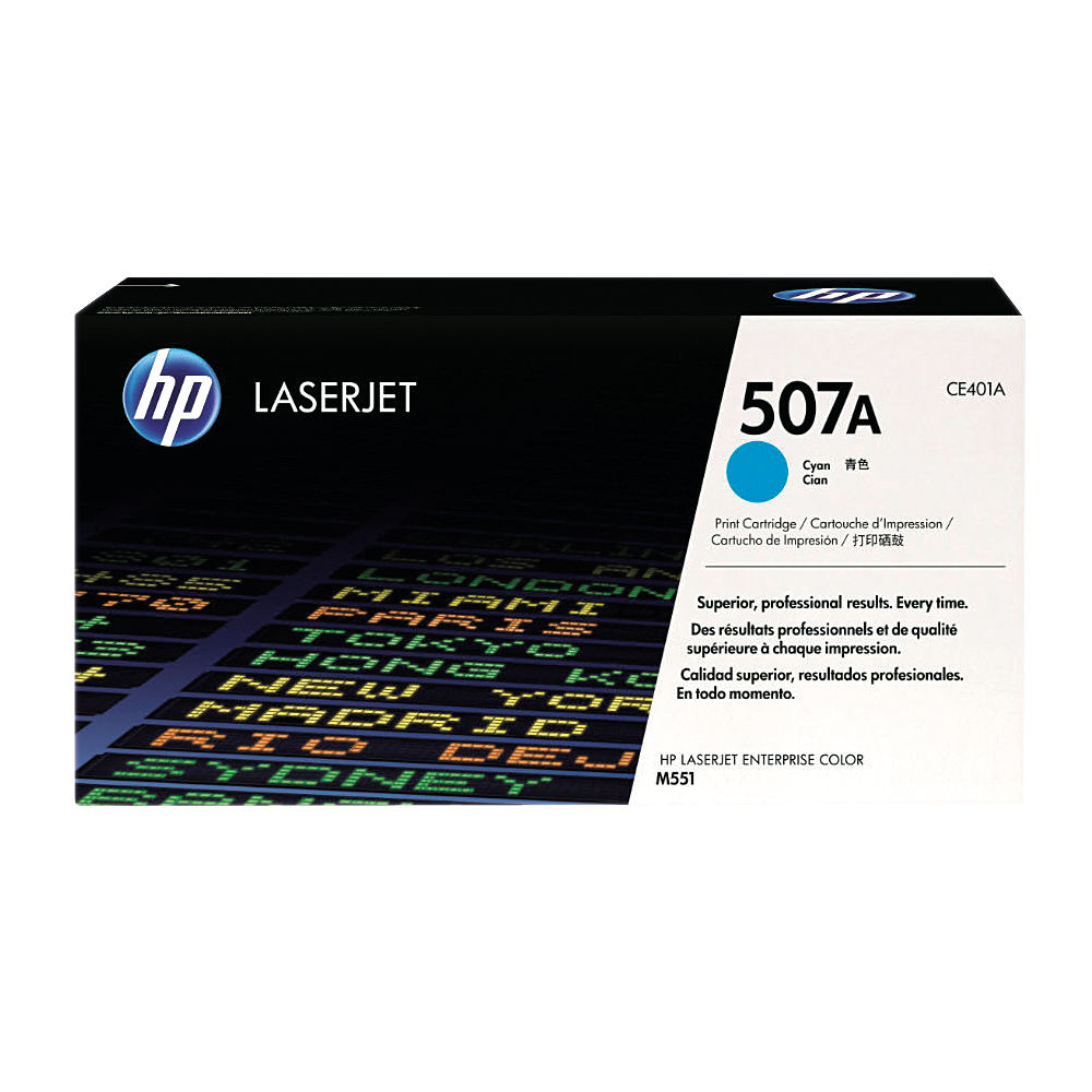 HP 507A Cyan Toner Cartridge - CE401A
