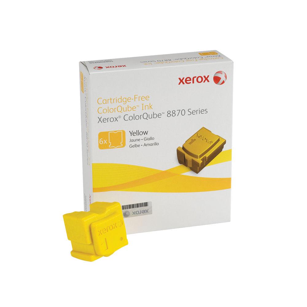 Xerox Yellow Cartridge-Free ColorQube Ink (Pack of 6) - 108R00956