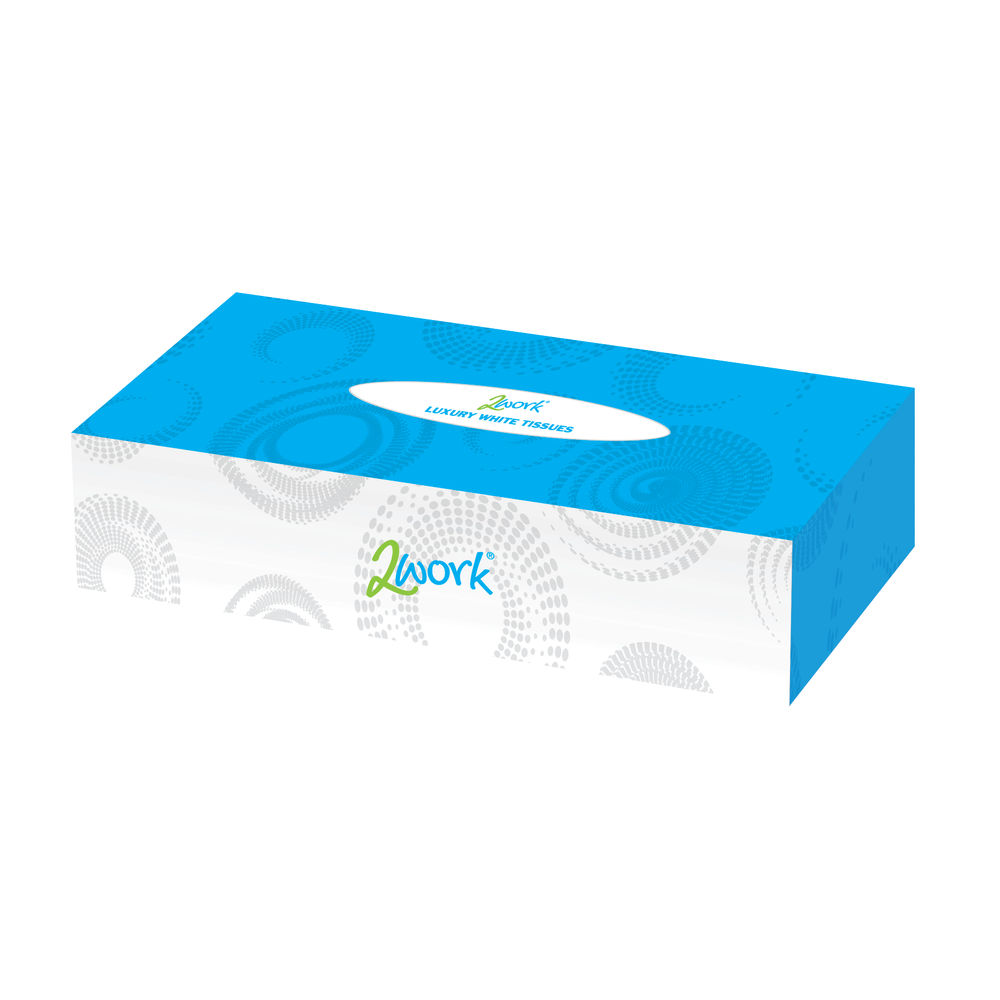 2Work Facial Tissues White 100 Sheet (Pack of 36) - FTW136