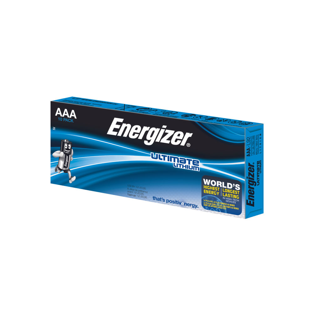 Energizer Ultimate Lithium AAA Batteries (Pack of 10) 634353