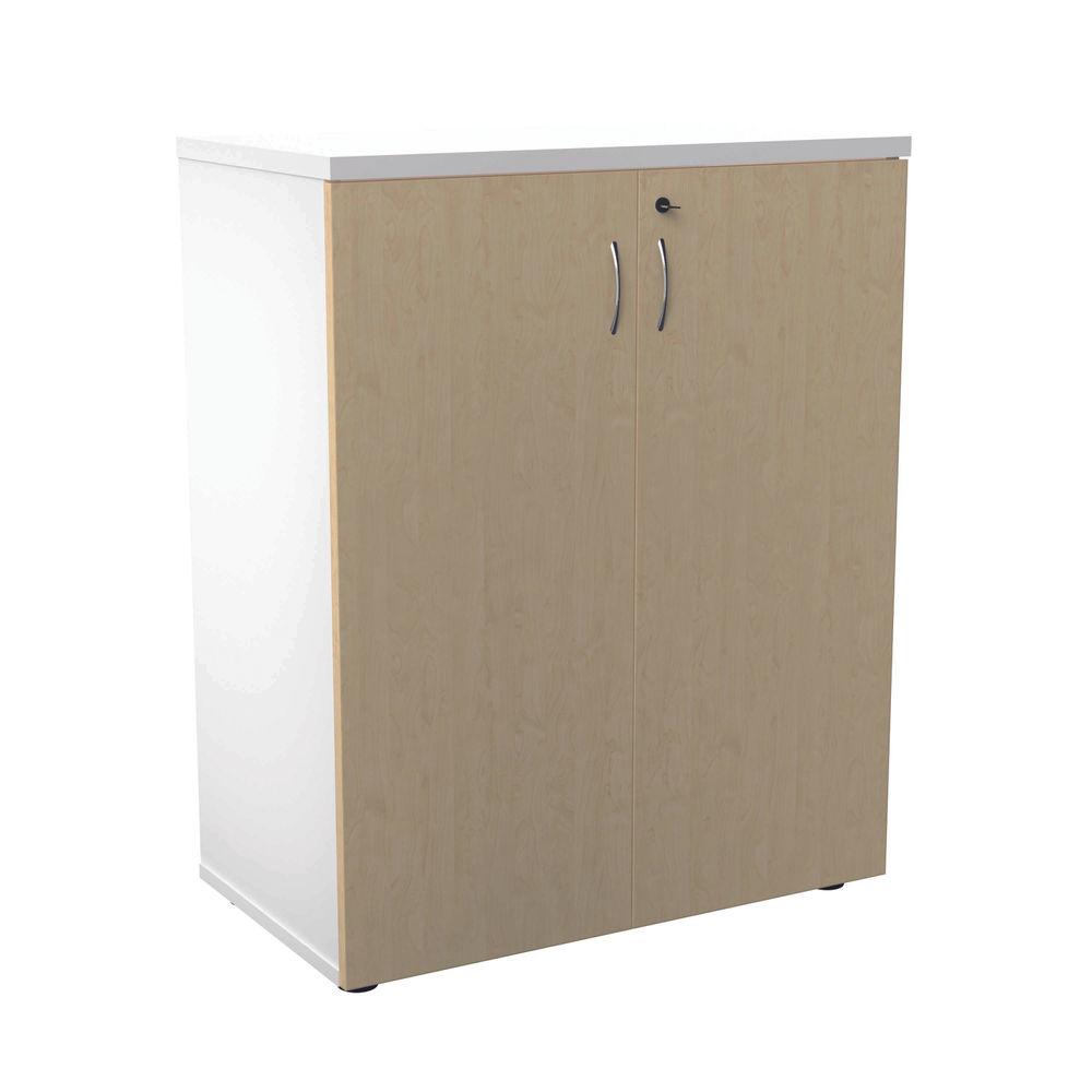 Jemini 700 x 450mm White/Maple Wooden Cupboard