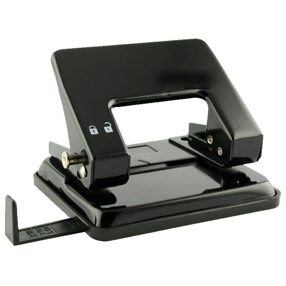 Black Medium Duty Hole Punch - WX01234