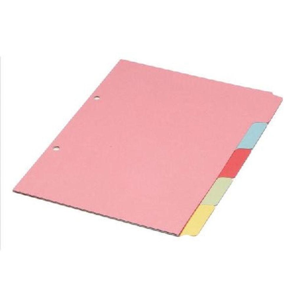 Pink A4 5-Part Divider - WX26081