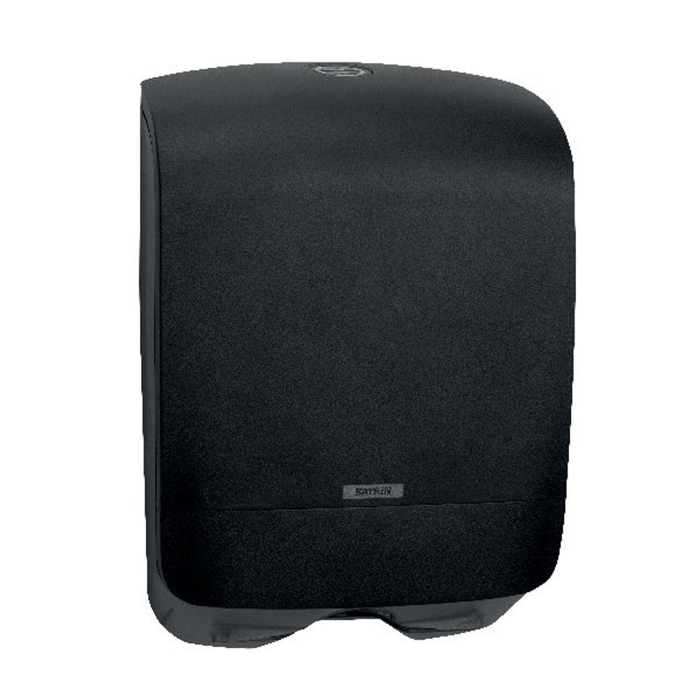 Katrin Black Mini Inclusive Hand Towel Dispenser - 92087