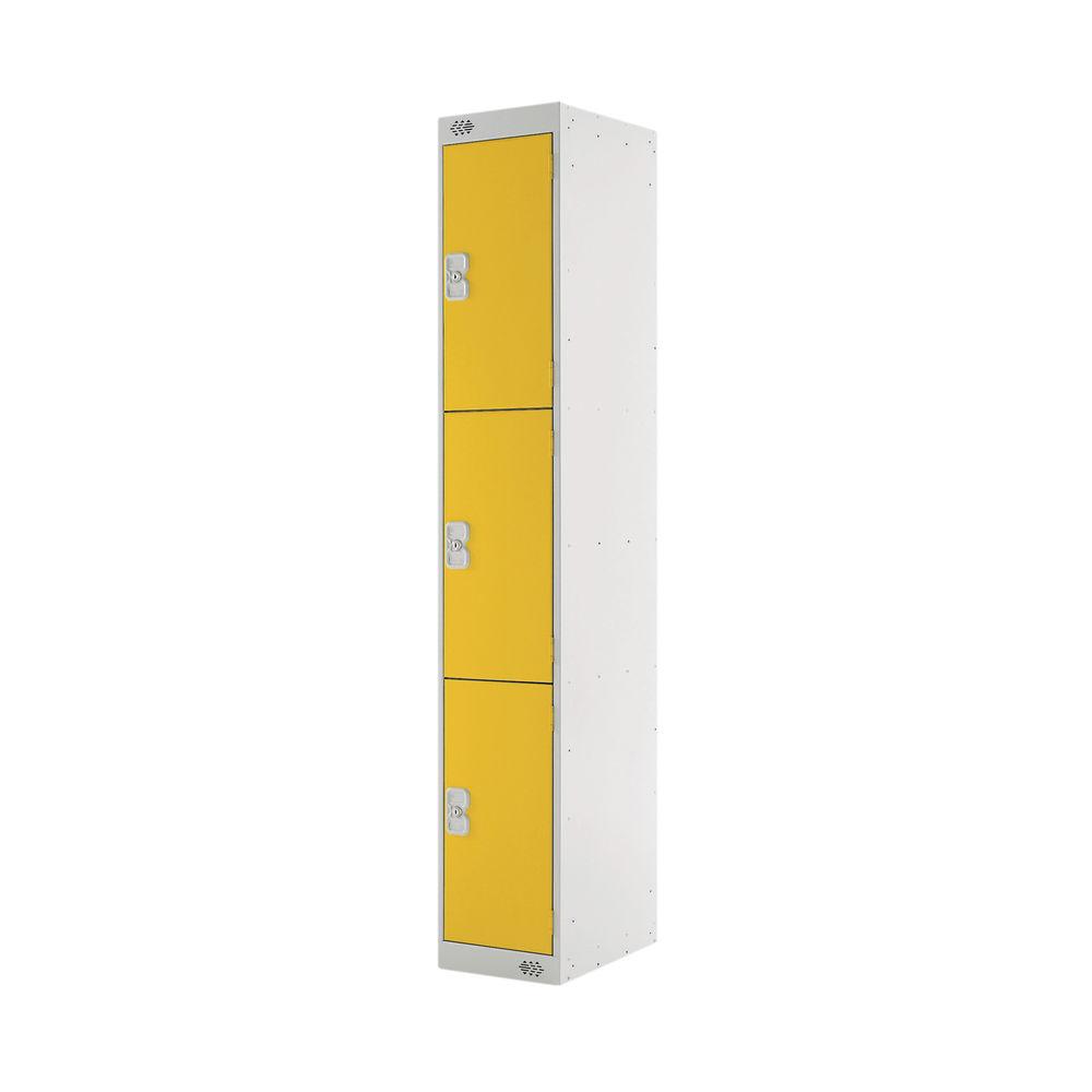 Three Compartment D300mm Yellow Locker - MC00018