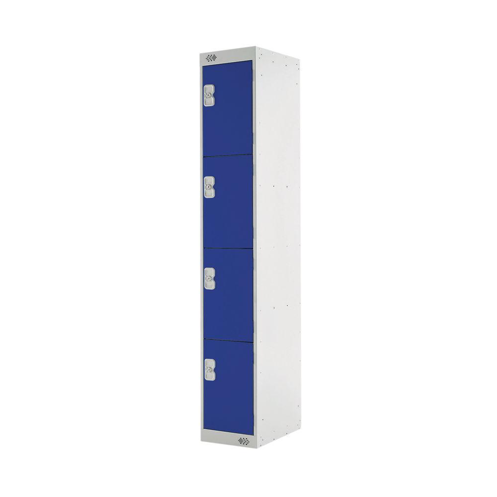 Four Compartment D300mm Blue Locker - MC00019