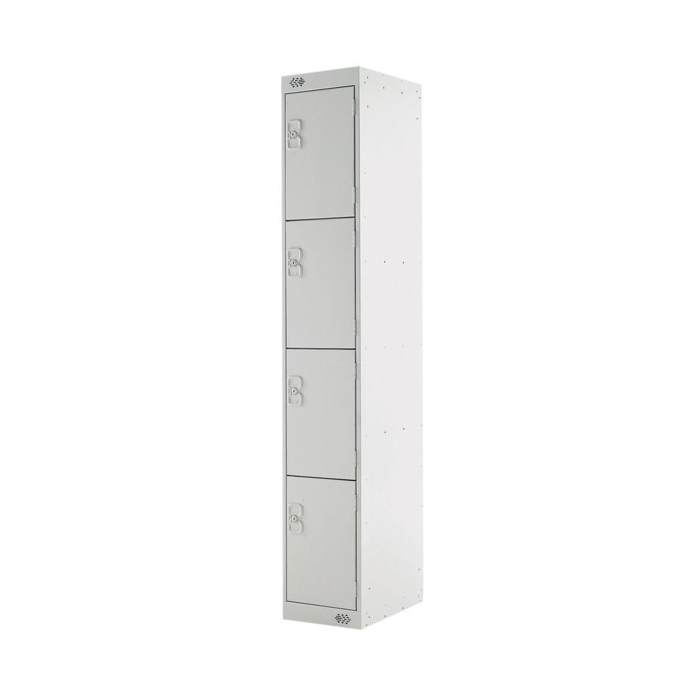 Four Compartment D300mm Light Grey Locker - MC00020
