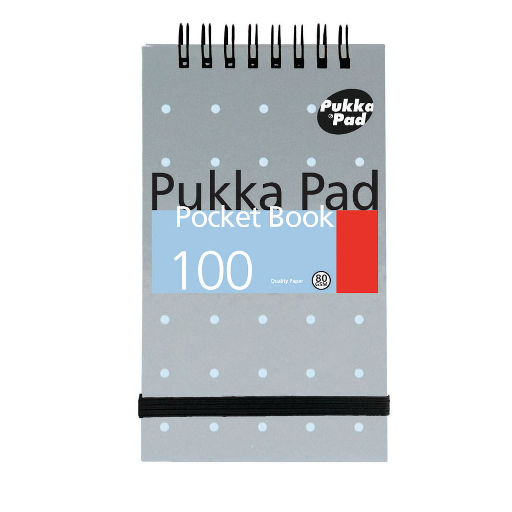 Pukka Pad Metallic Small A7 Pocket Notebook - Pack of 6 - 6254-MET