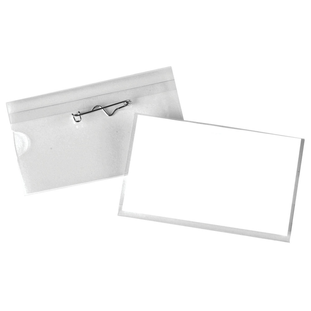 Pin Name Badges 54 x 90mm, Pack of 50 - 8009206
