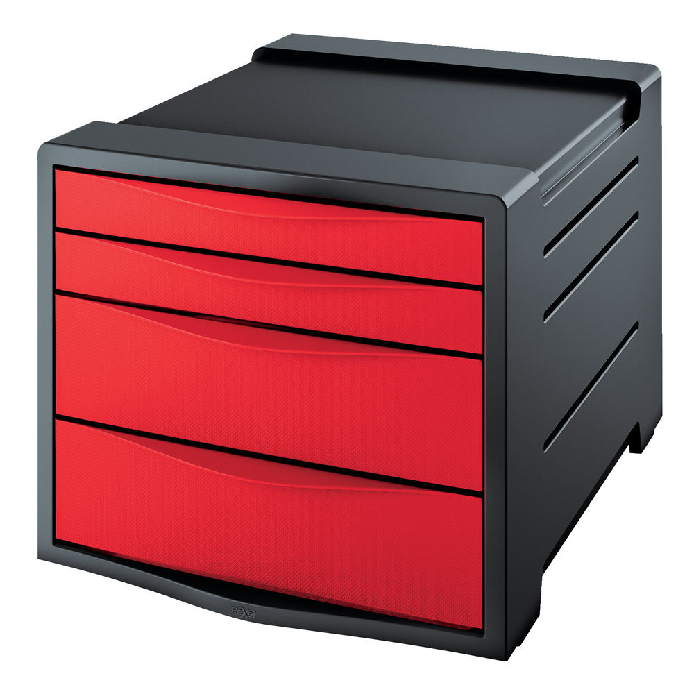 Rexel Choices Red Drawer Cabinet - 2115610