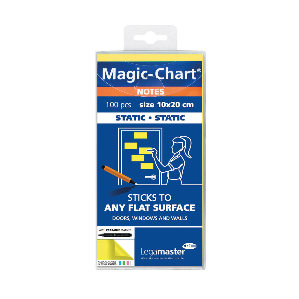 Legamaster Yellow 20 x 10cm Magic Notes (Pack of 100) - 7-159405