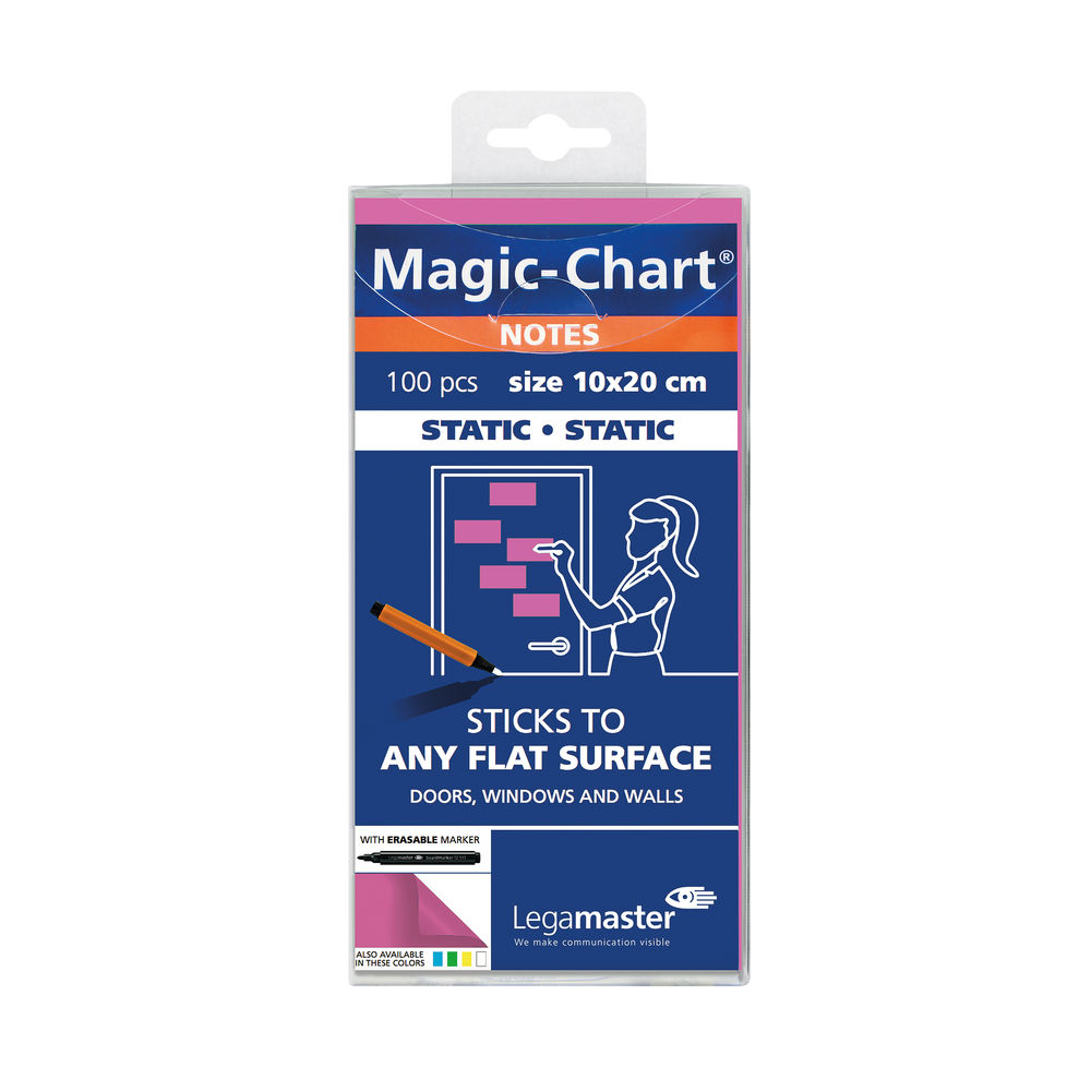 Legamaster Pink 20 x 10cm Magic Notes (Pack of 100) - 7-159409