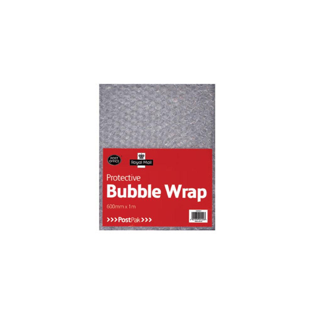 PostPak Clear Bubble Wrap Sheet, 600mm x 1m 6216122