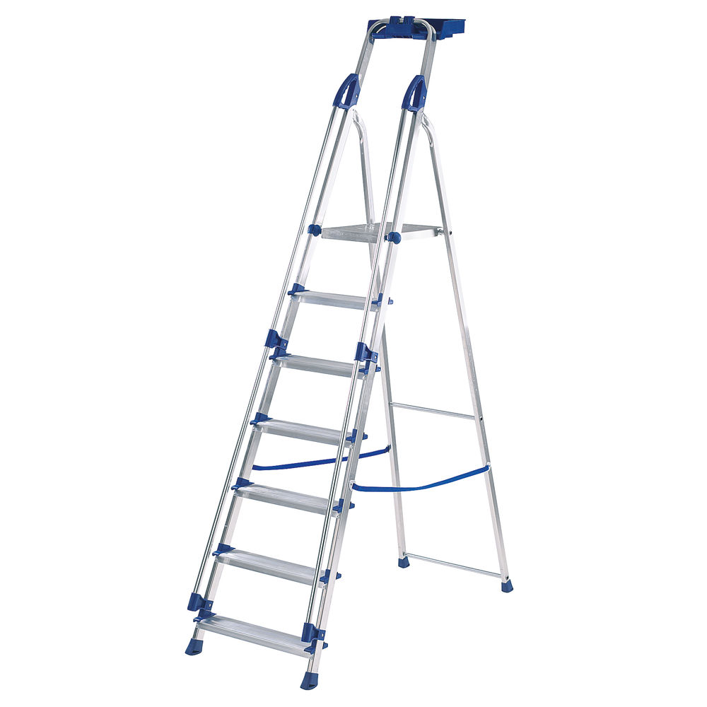 Werner Blue 7 Tread Professional Aluminium Step Ladder - 7050718
