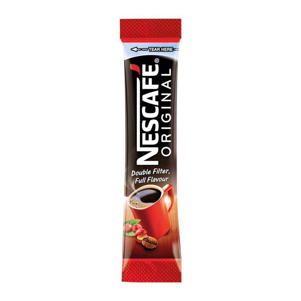 Nescafe Original One Cup Coffee Sachets, Pack of 200 - 12315596