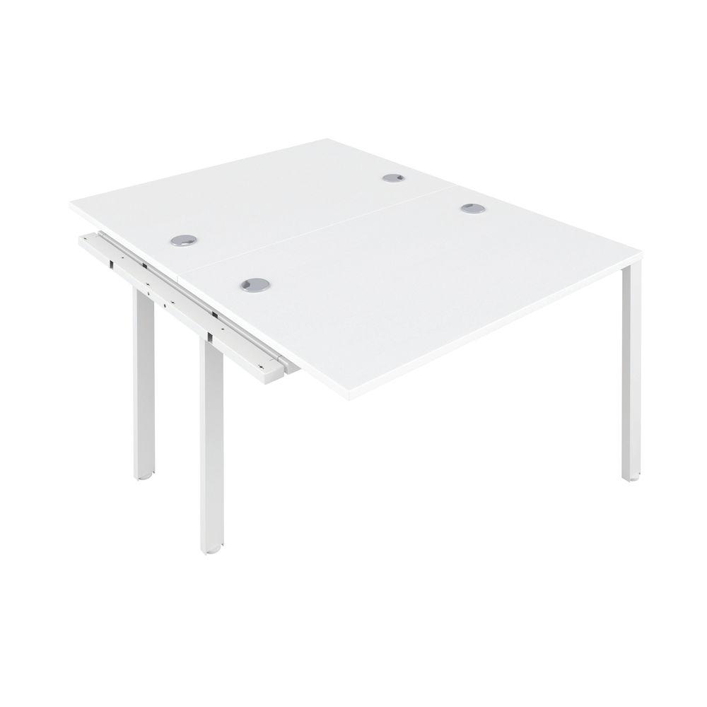 Jemini 1200mm White/White Two Person Extension Desk