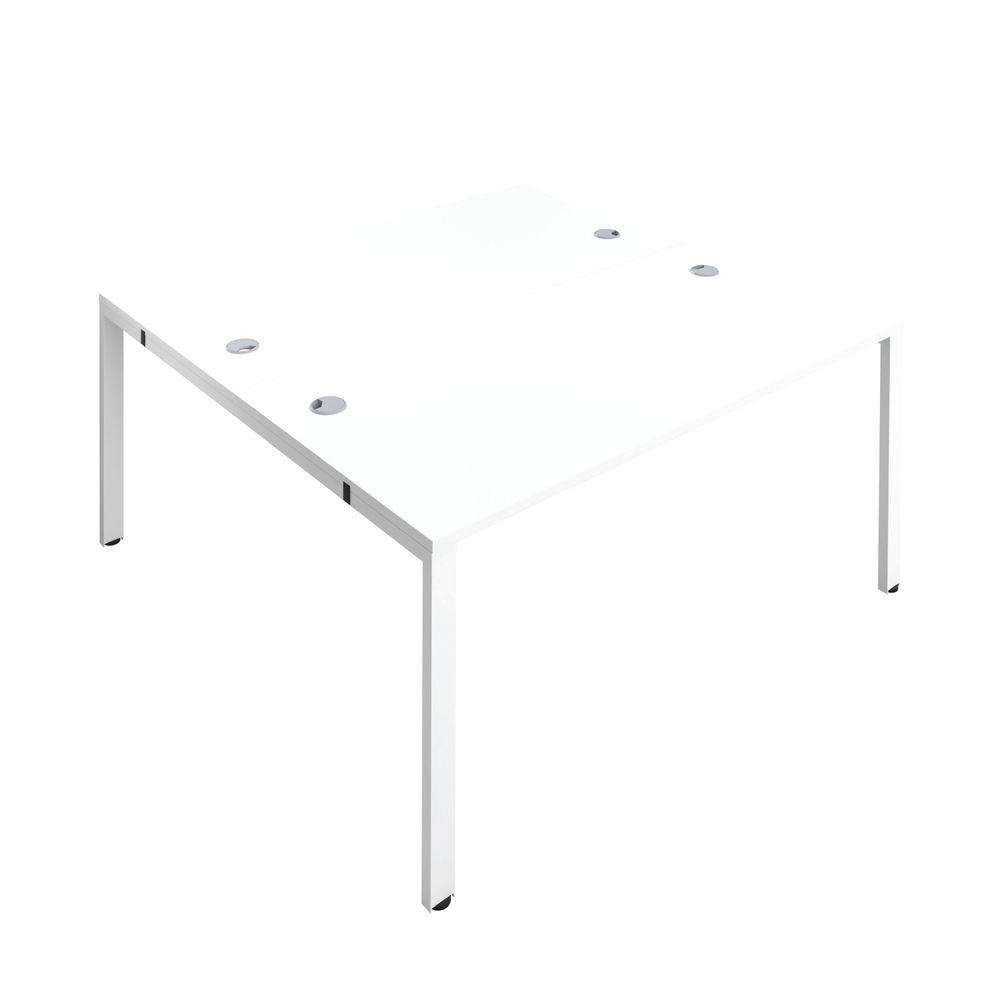 Jemini 1200mm White/White Two Person Bench Desk