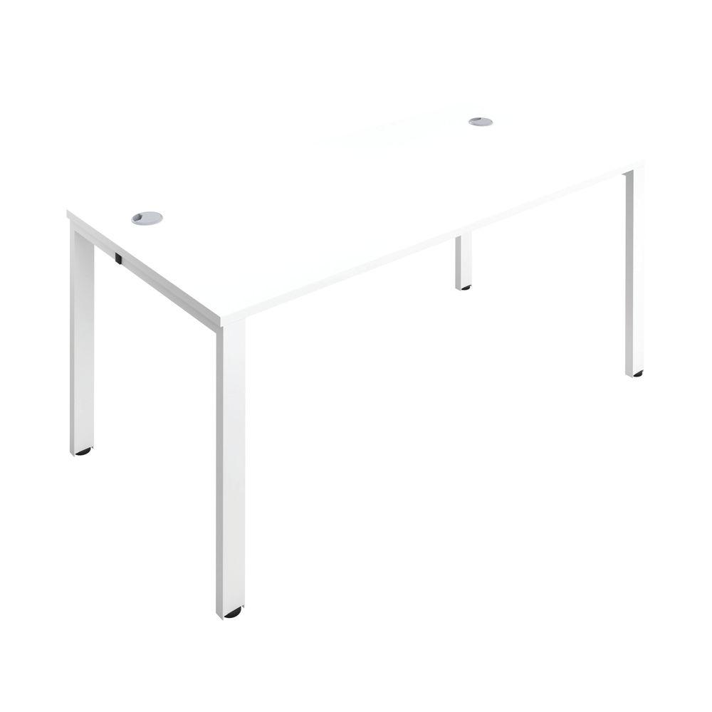 Jemini 1200mm White/White One Person Bench Desk