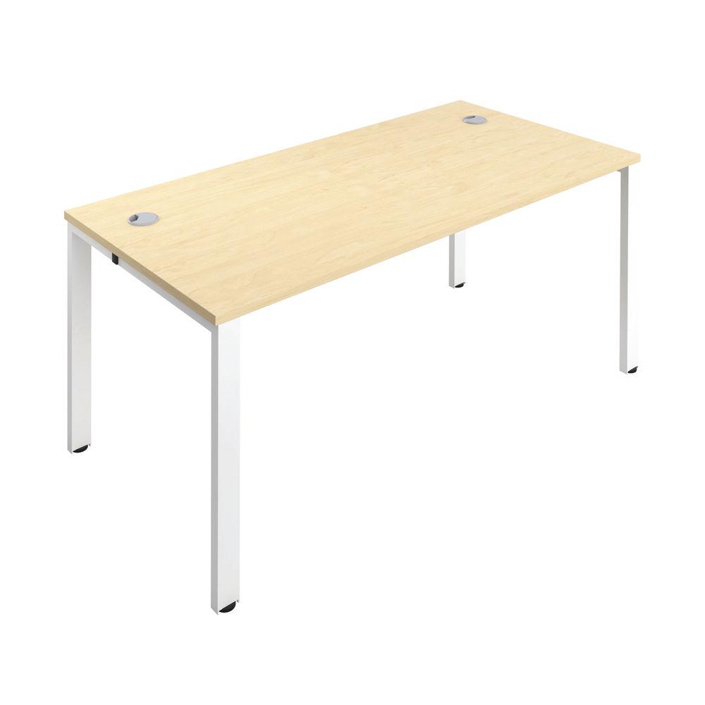 Jemini 1200mm Maple/White One Person Bench Desk