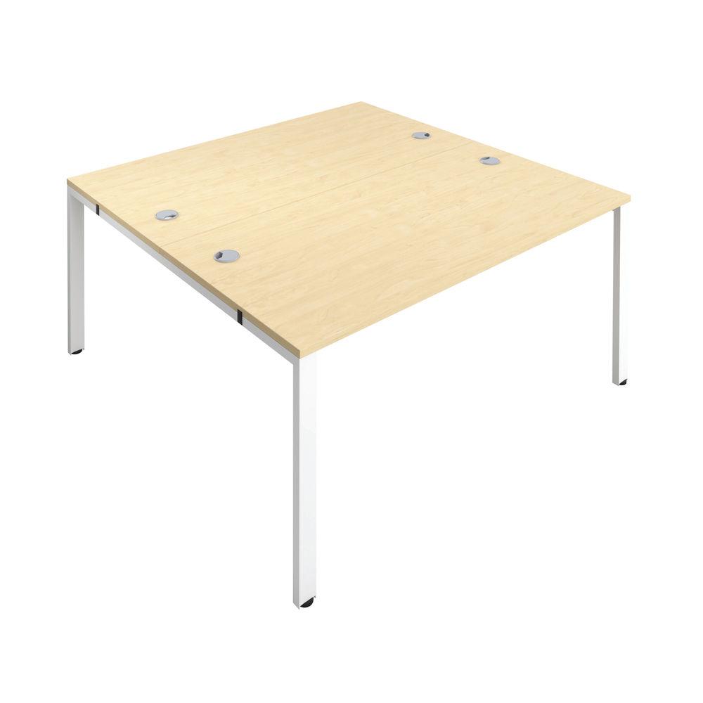 Jemini 1200mm Maple/White Two Person Bench Desk