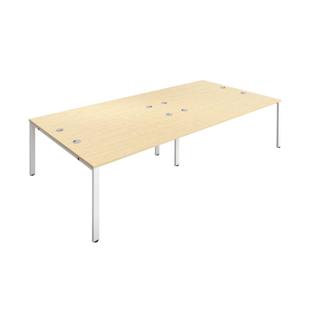 Jemini 1200mm Maple/White Four Person Bench Desk