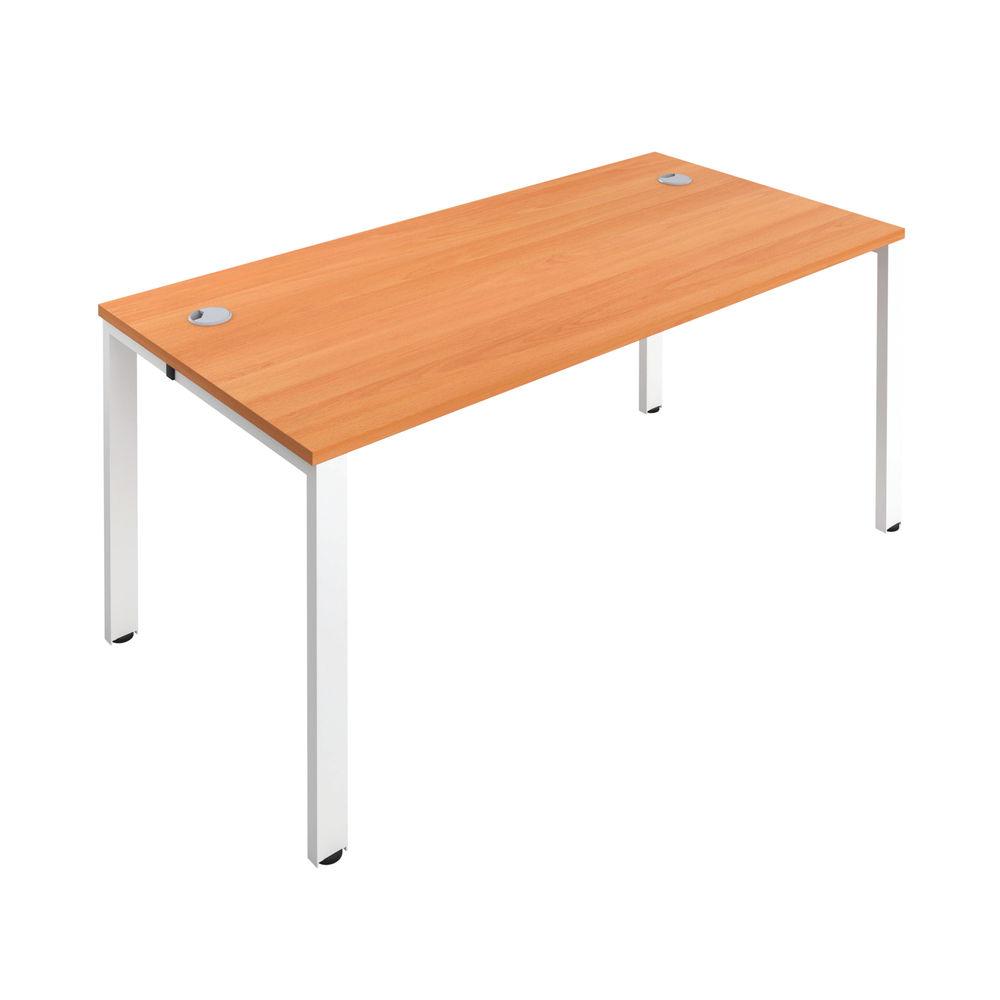 Jemini 1400mm Beech/White One Person Bench Desk
