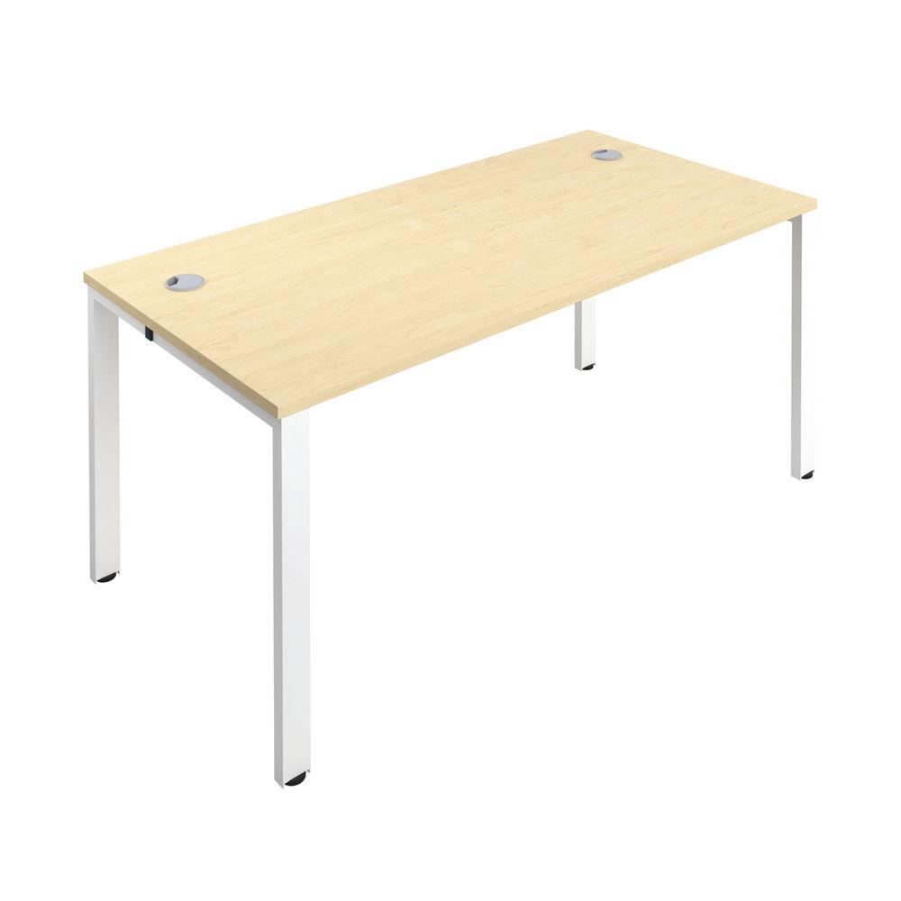 Jemini 1400mm Maple/White One Person Bench Desk