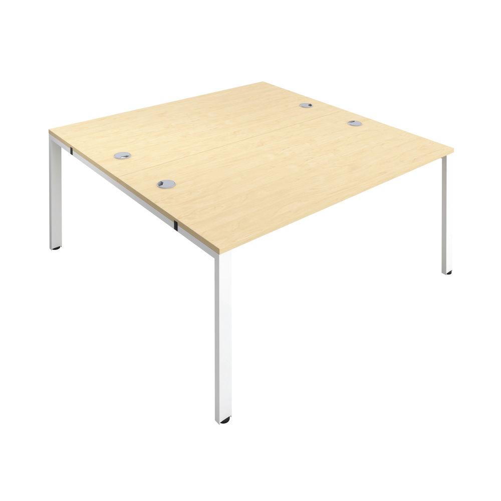 Jemini 1400mm Maple/White Two Person Bench Desk