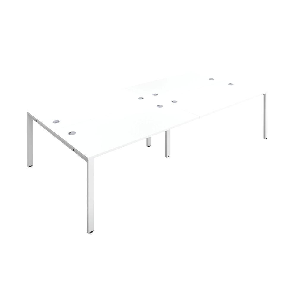 Jemini 1400mm White/White Four Person Bench Desk