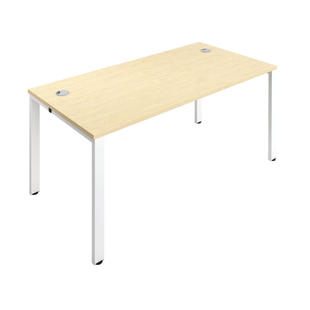 Jemini 1600mm Maple/White One Person Bench Desk