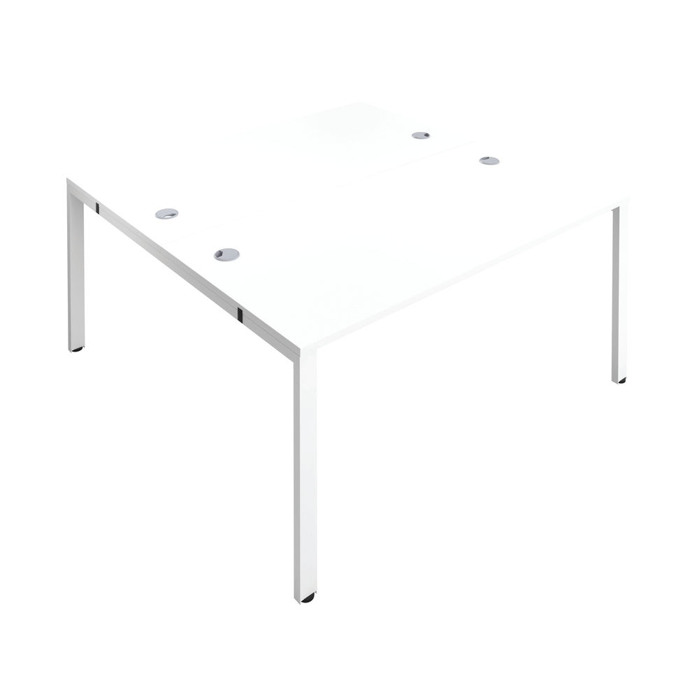 Jemini 1600mm White/White Two Person Bench Desk