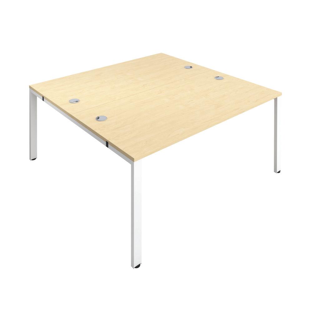 Jemini 1600mm Maple/White Two Person Bench Desk