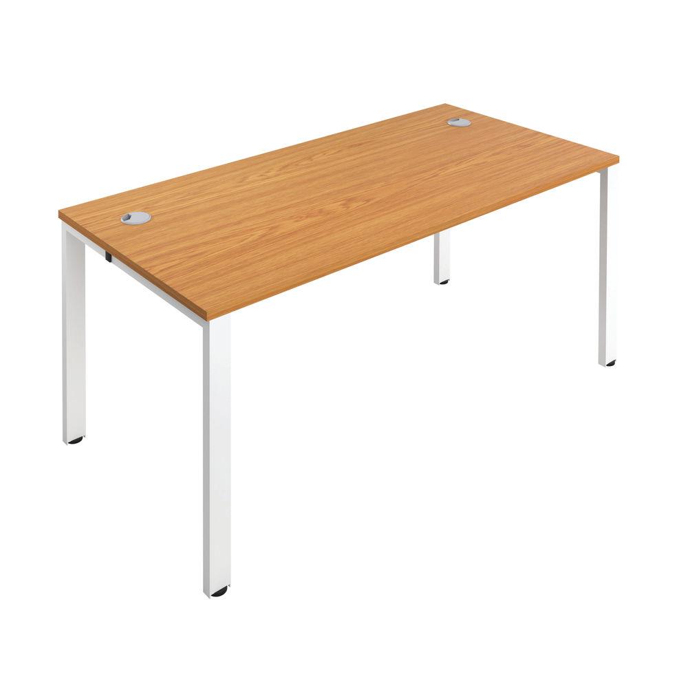 Jemini 1200mm Nova Oak/White One Person Bench Desk