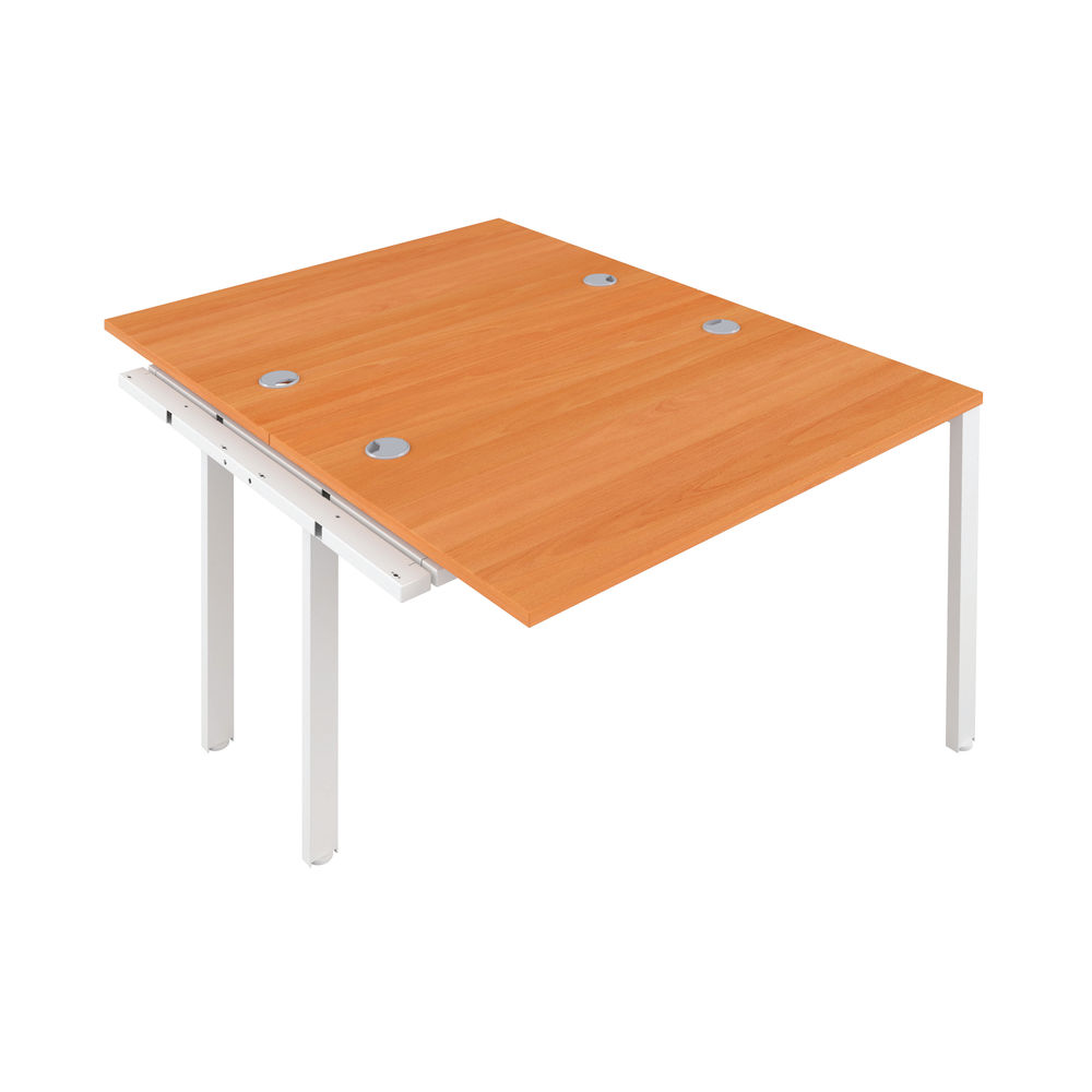 Jemini 1200mm Beech/White Two Person Extension Desk