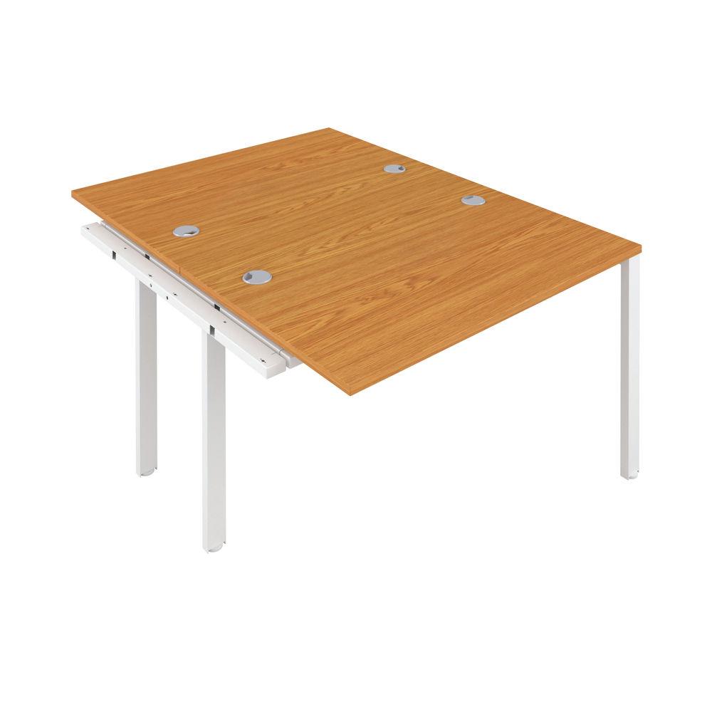 Jemini 1200mm Nova Oak/White Two Person Extension Desk