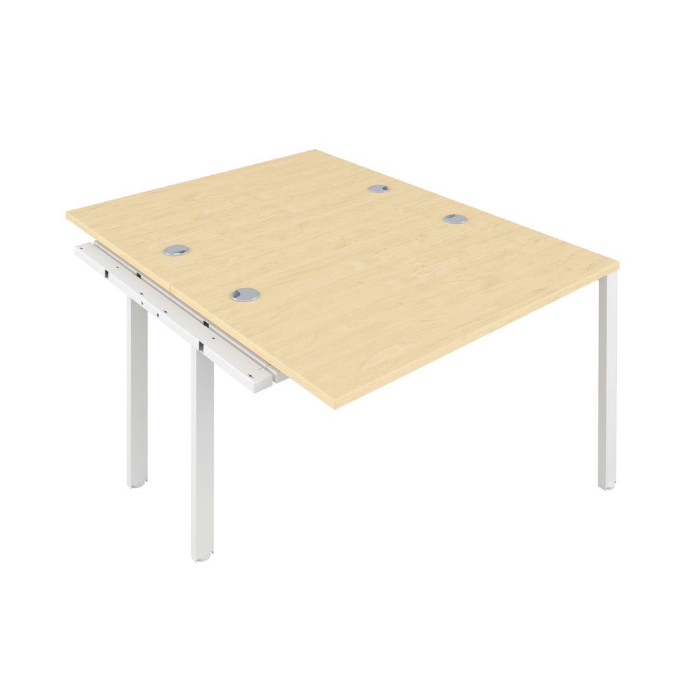Jemini 1200mm Maple/White Two Person Extension Desk