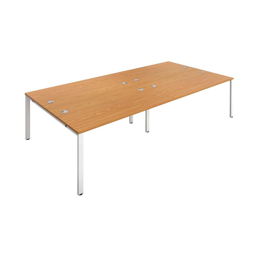 Jemini 1200mm Nova Oak/White Four Person Bench Desk