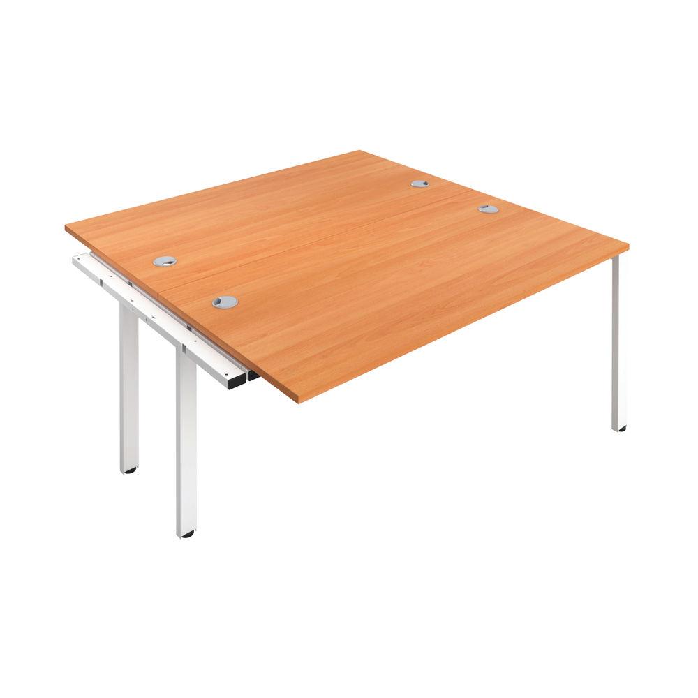 Jemini 1400mm Beech/White Two Person Extension Desk