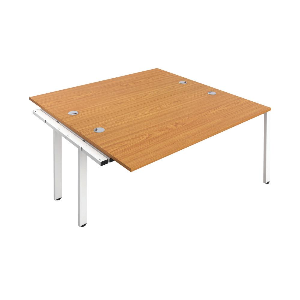 Jemini 1400mm Nova Oak/White Two Person Extension Desk