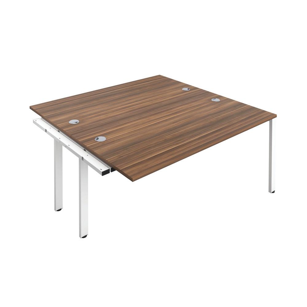 Jemini 1400mm Dark Walnut/White Two Person Extension Desk
