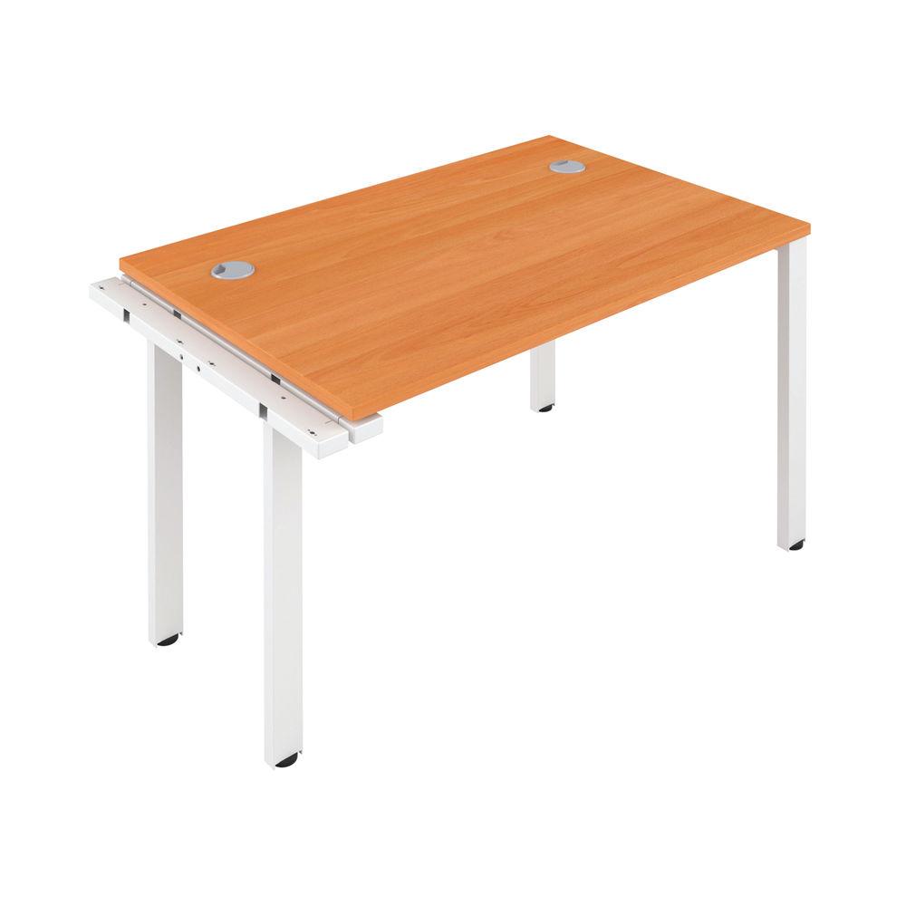 Jemini 1600mm Beech/White One Person Extension Desk