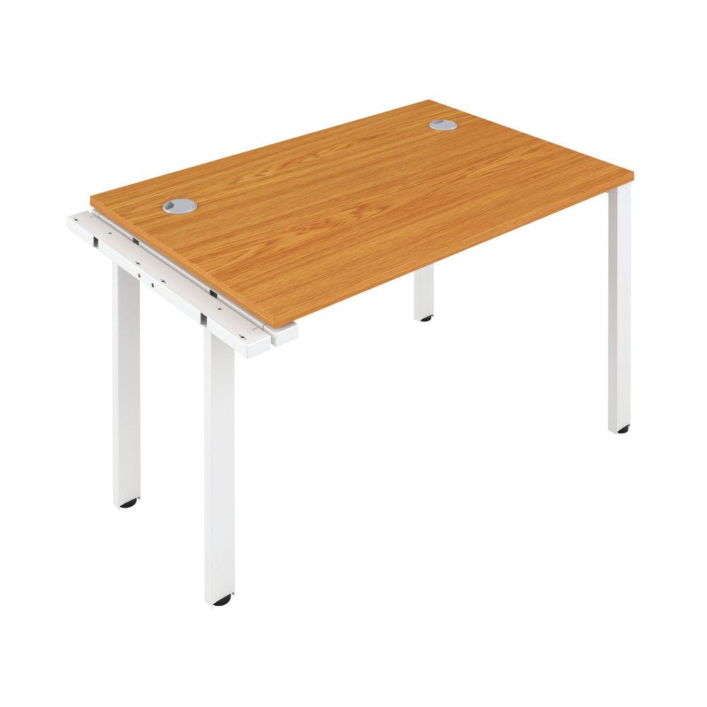 Jemini 1600mm Nova Oak/White One Person Extension Desk