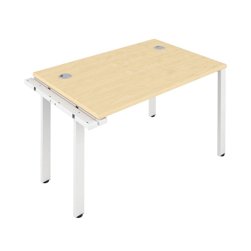 Jemini 1600mm Maple/White One Person Extension Desk