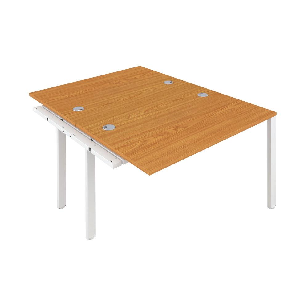 Jemini 1600mm Nova Oak/White Two Person Extension Desk