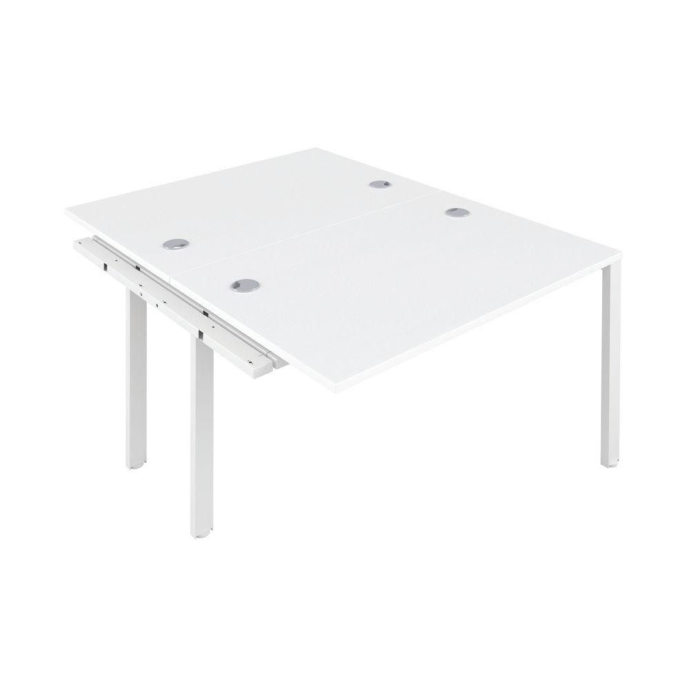 Jemini 1600mm White/White Two Person Extension Desk