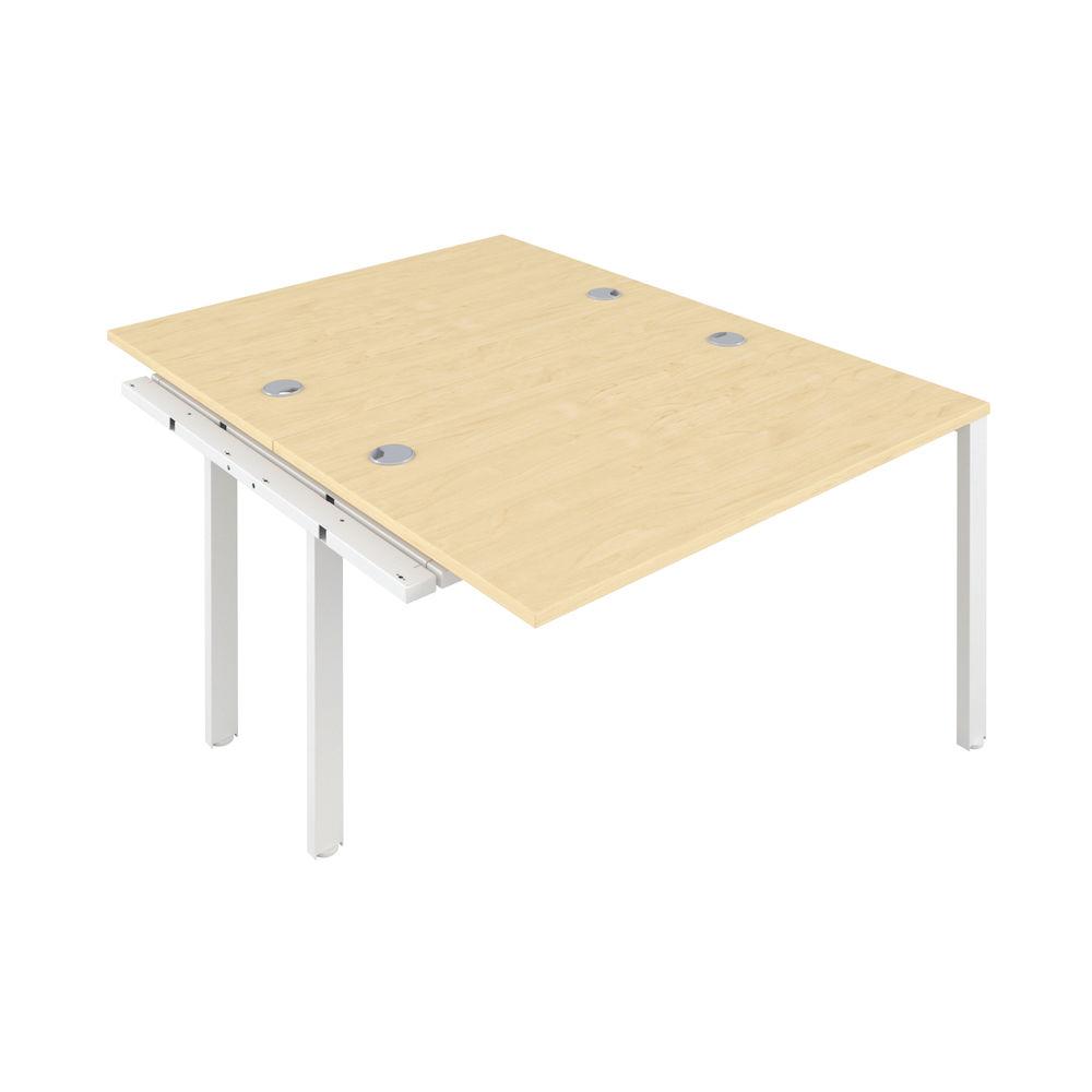 Jemini 1600mm Maple/White Two Person Extension Desk